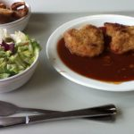 Mensa(学食)での食事の一例、安い