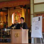 ハワイ、カパア本願寺での法話の様子