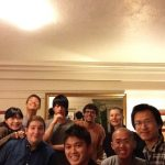 Having party in the dorm room.
