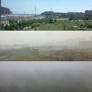大気汚染比較写真