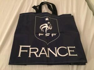 サッカーフランス代表デザインのエコバッグ