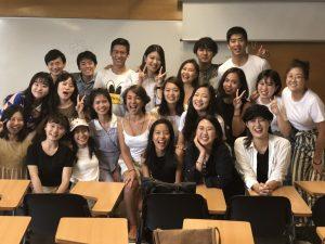 最後の授業の日に撮った写真
