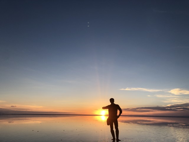 ウユニ塩湖 写真 加工済み